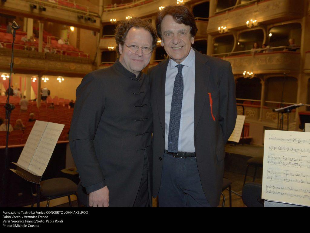 Con John Axelrod, Veronica Franco, La Fenice di Venezia, 2017