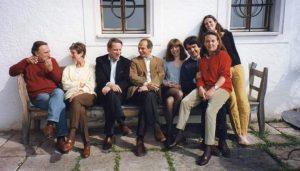 con Claudio e Alessandra Abbado, Paolo Lazzati, altri amici, Salisburgo, 1999